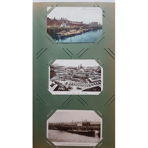 15 - Fine Pictorial Irish Postcard Album dated 1907 with 111 old Irish Cards...