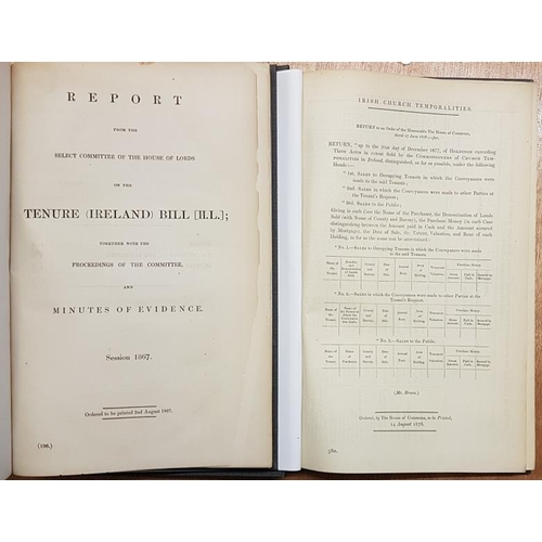 22 - <em>'Report of the House of Lords on the Tenure (Ireland) Bill with Minutes of Evidence'</em>. 1867....