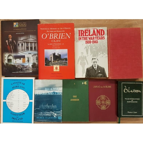 45 - <em>'Gazetteer Of Ireland</em>' and eight other Irish interest books...
