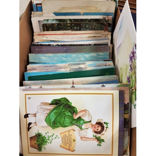 13a - Box of c. 200 Postcards to include First Day, Birr, etc....