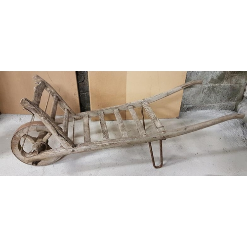 4 - 19th Century Hand Made Wood and Iron Garden Barrow, c.58in...