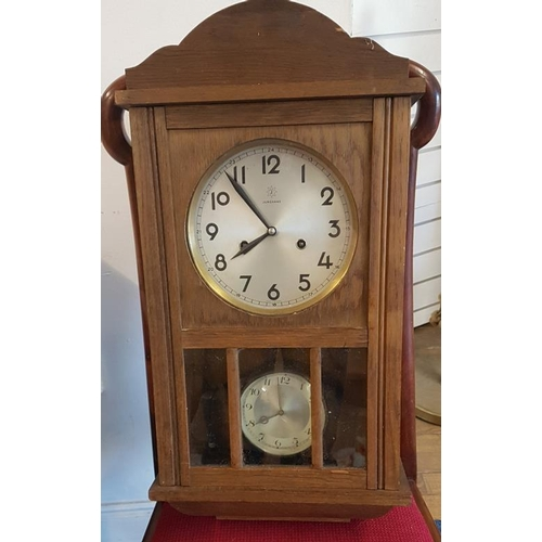 16 - German Wall Clock and a Mantle Clock...