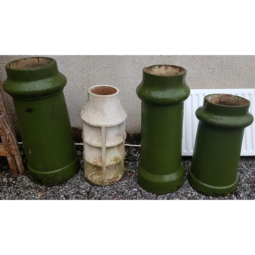 26 - Four Various Chimney Pots - Tallest 30.5ins...
