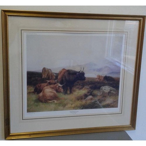 41 - Two Framed Prints depicting Cattle...