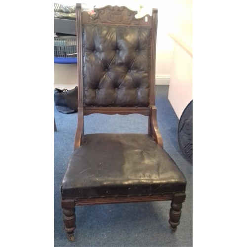 44 - Pair of 'His & Her' Edwardian Armchairs...