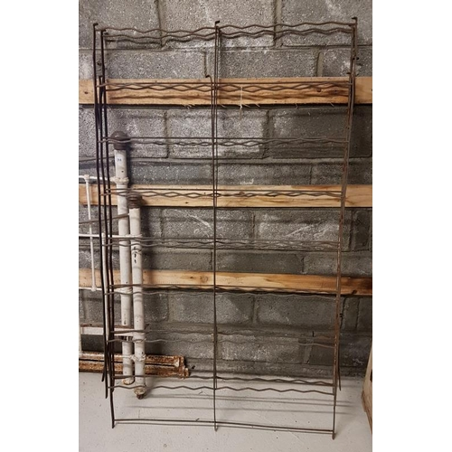 133 - Large Metal Wine Rack - 40.5 x 71ins...