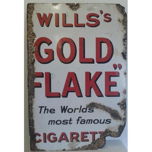 141 - <em>'Wills's Gold Flake'</em> Enamel Advertising Sign - 22.5 x 34ins...