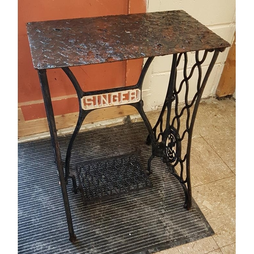 161 - Singer Sewing Machine Base, c.22in wide...