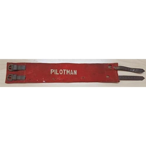 204 - <em>PiILOTMAN</em>Embroidered Felt Arm Badge, (overall c.20in)...