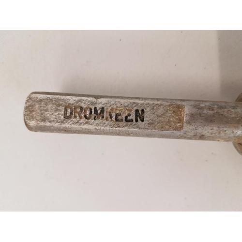230 - Small Aluminium Staff, Pallas to Dromkeen - 10ins...