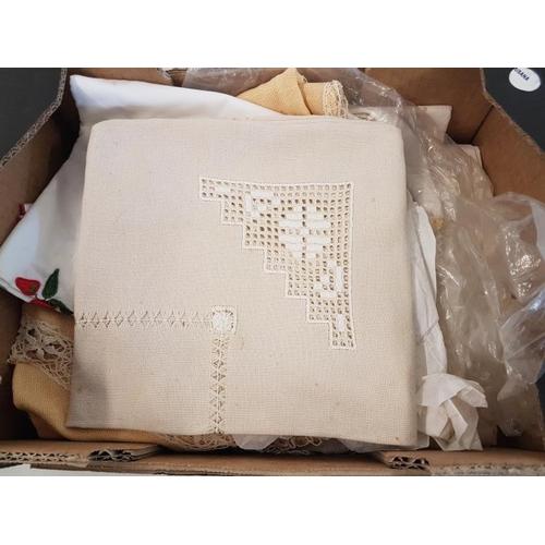 408 - Box of Various Linens...