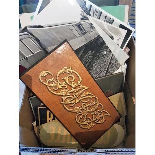 1 - Box of Irish Railway Interest Photographs etc....
