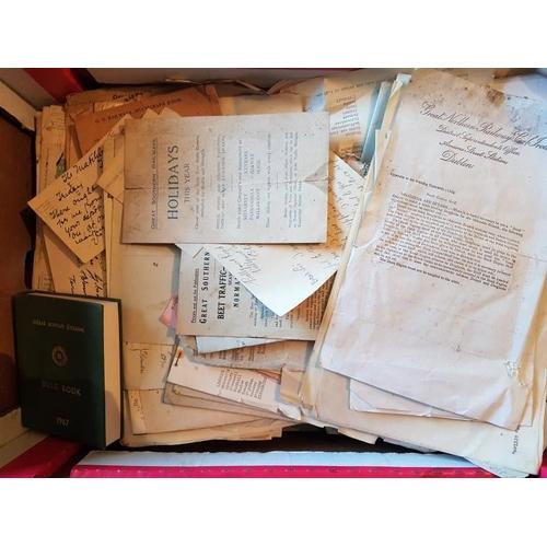 3 - Box of Irish Railway Interest Ephemera...