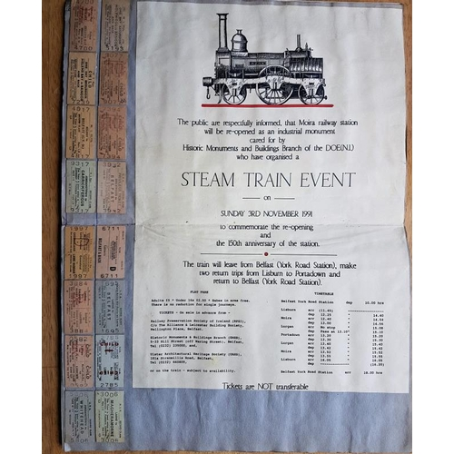 7 - Irish Railwayana Scrap Book, tickets, correspondence, notices etc....