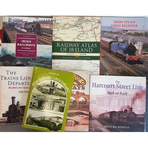 11 - Bundle of Irish Railway Interest Hardback Books, (7)...