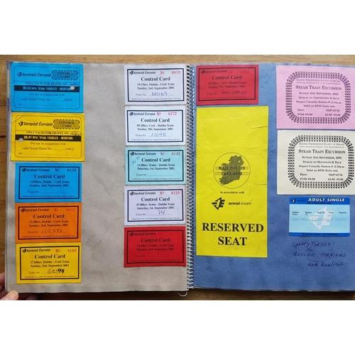 17 - Irish Railwayana Scrap Book, Dublin Wicklow & Wexford Railway interest, tickets, correspondence,...