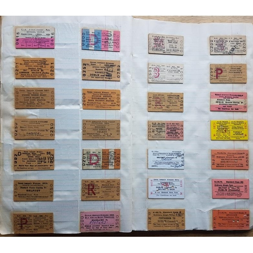 20 - Irish Railwayana Scrap Book, tickets, correspondence, notices etc....