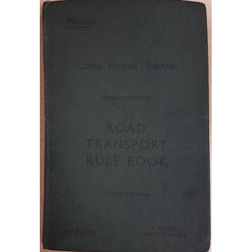 39 - Road Transport Rule Book, Coras Iompair Eireann 1948...