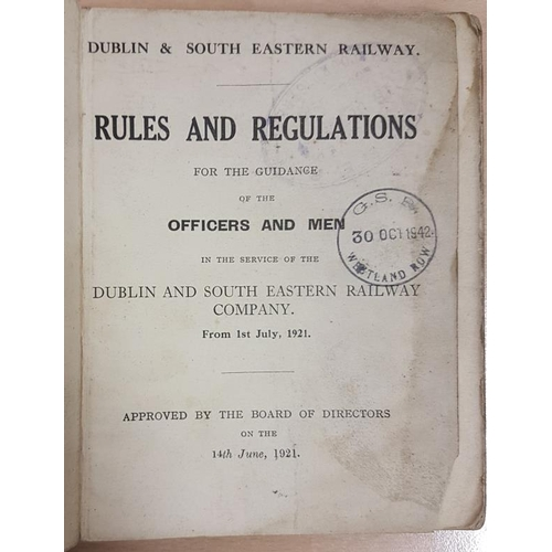 40 - Dublin and South Eastern Railway - Rules and Regulations for the Company's Officers and Servants 192...