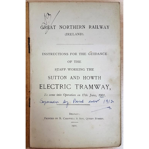 47 - Rules of the Sutton and Howth Electric Tramway 1901...