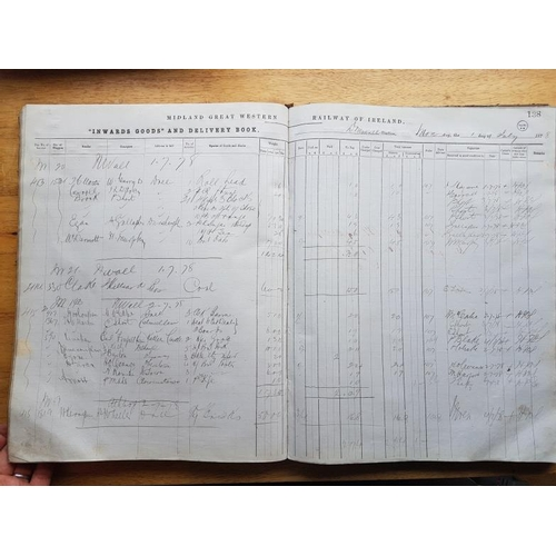 78 - Midland Great Western Railway of Ireland, Inwards Goods and Delivery Book, c.1878...