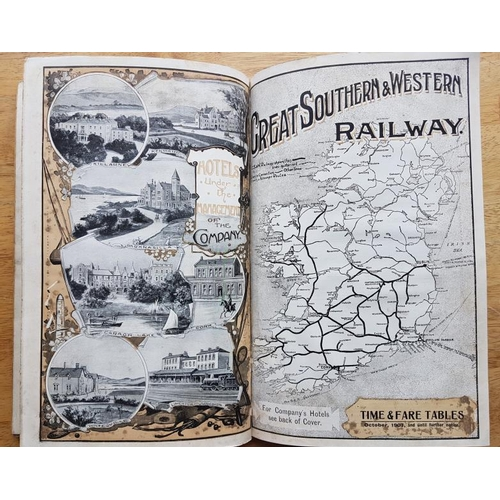113 - Great Southern & Western Railway - Time Table 1906, with folding maps and other relevant materia...