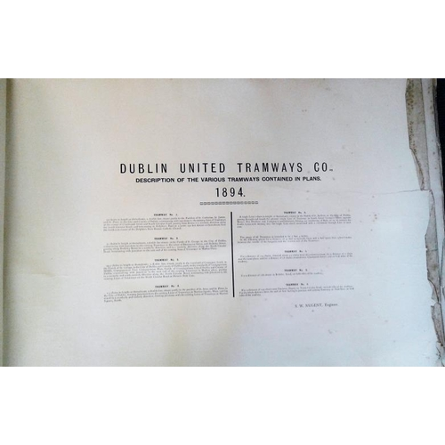 129 - Dublin United Tramway Company - Plans and Sections of Seven Tramways, 1894, large folio with 3 illus...