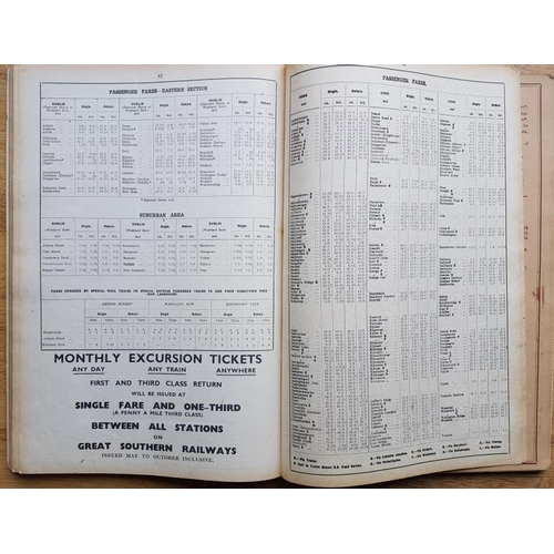 133 - Great Southern and Western Railway - Time Tables, from 12th September 1937, with folding maps...