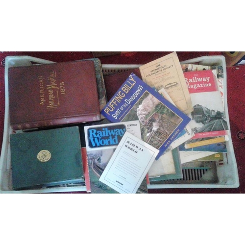 4 - Large Box of Mostly Non-Irish Railway Interest Books etc....