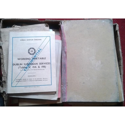 5 - Two Boxes of CIE Interest Ephemera, Ledgers etc....