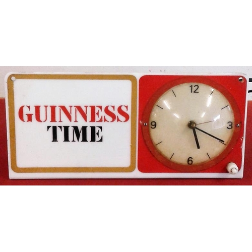 1 - <em>'Guinness Time'</em> Electric Clock (both clock and light are working)...