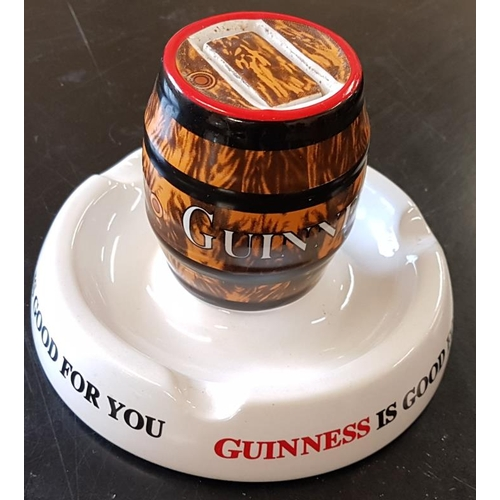 4 - '<em>Guinness is Good for You</em>' Barrel Ashtray by Minton...