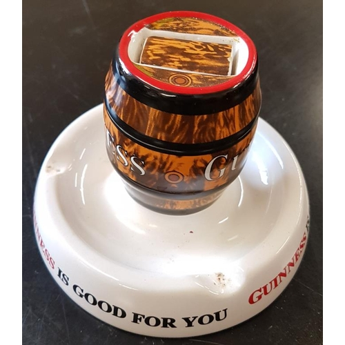 7 - <em>'Guinness is Good for You</em>' Barrel Ashtray by Minton...