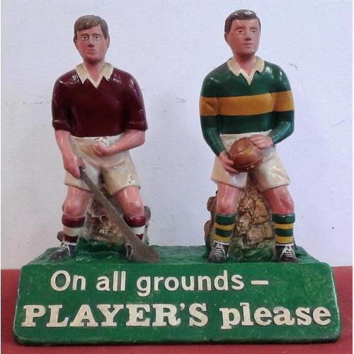 12 - Original Pair of '<em>Player's Please'</em> GAA Figures - c. 9ins tall...