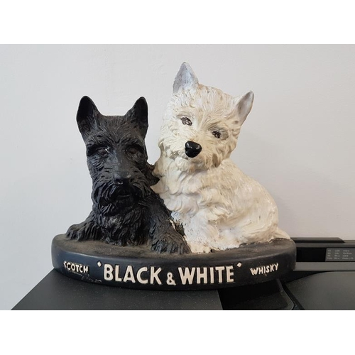 13 - Pair of <em>Black &amp; White Scotch Whisky</em> Dogs, c.11 x 8in...
