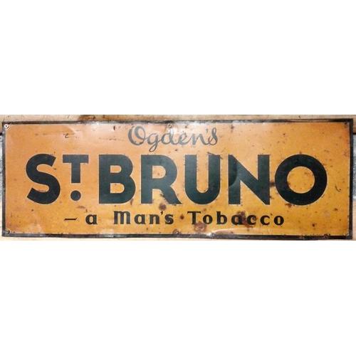 24 - <em>'St. Bruno'</em> Tin Advertising Sign - 10 x 29ins...