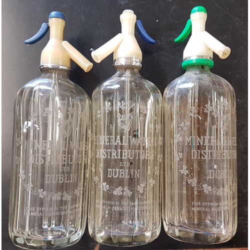 32 - Three<em> Mineral Waters, Dublin</em> Soda Syphons...