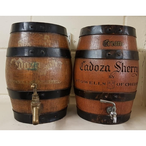 33 - Pair of Sherry Barrels - each 14ins tall...