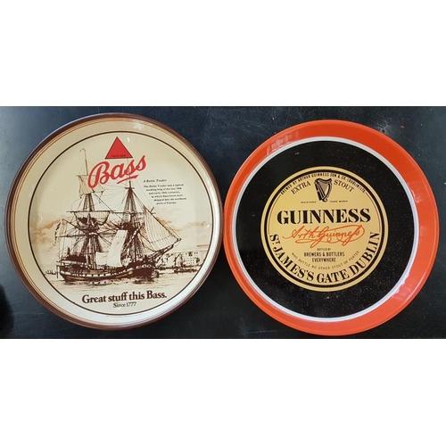 35 - <em>Guinness </em>and <em>Bass</em> Pub Trays (2)...