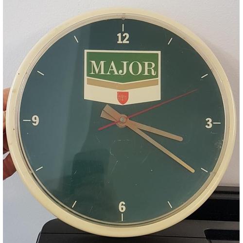 39 - <em>Major</em> Cigarettes Clock, 9in diameter...