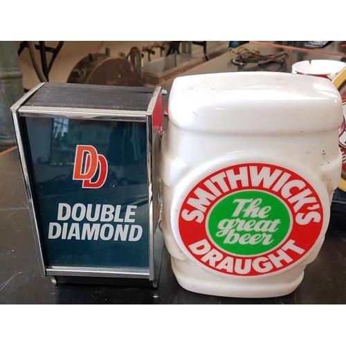 55 - <em>Double Diamond</em> and <em>Smithwicks</em> Counter Top Tap Fronts...