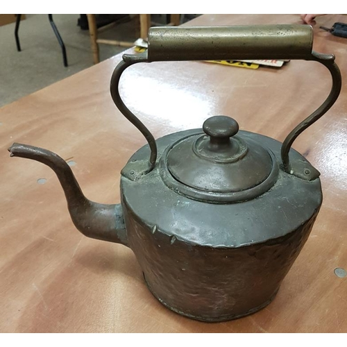 67 - Victorian Copper Kettle...