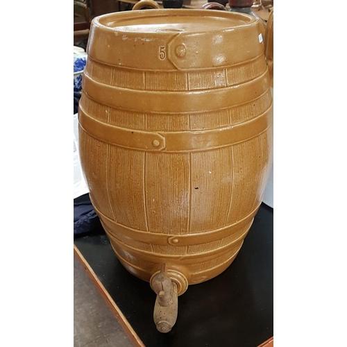 80 - Good Victorian 5-Gallon Stoneware Whiskey Barrel...