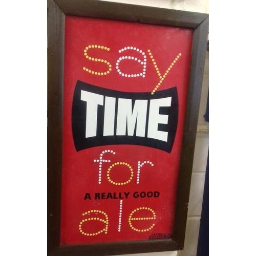 83 - Original <em>'Say Time For Ale' </em>Tin Sign - 16 x 28ins...
