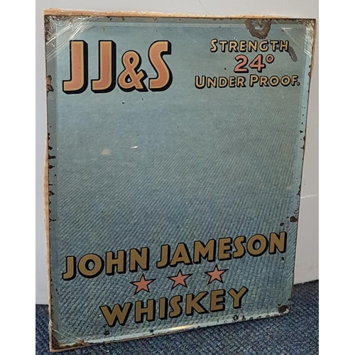 86 - <em>'J. J. & S. John Jameson 3-Star Whiskey'</em> Advertising Mirror - c. 9 x 12ins...