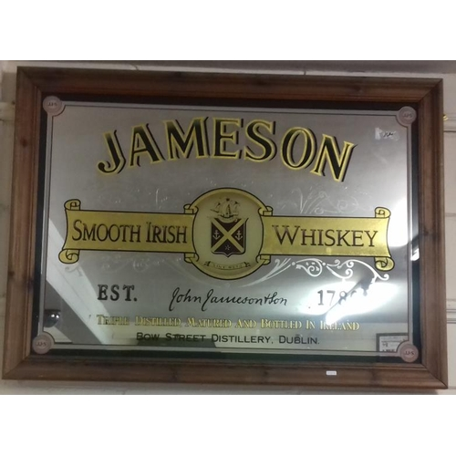 93 - <em>'Jameson Smooth Irish Whiskey</em>' Advertising Mirror' - 44 x32ins...