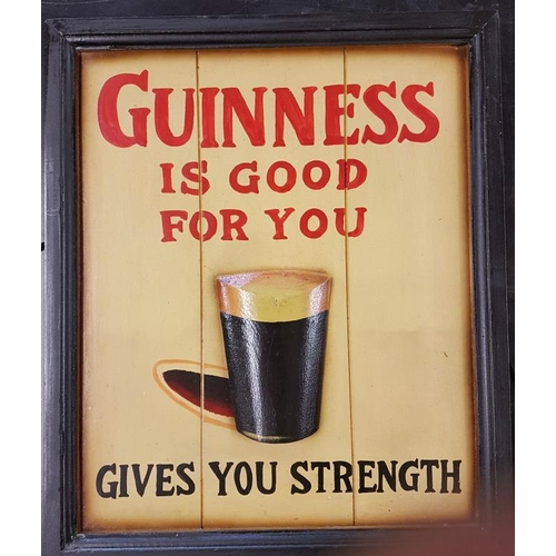 98 - <em>'Guinness is Good For You'</em> Painted Wooden Sign - 15 x 18ins...