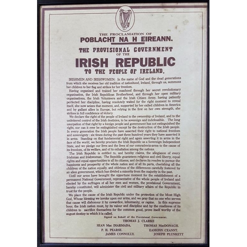 101 - Framed Copy of the Irish Proclamation - 13 x 18ins...