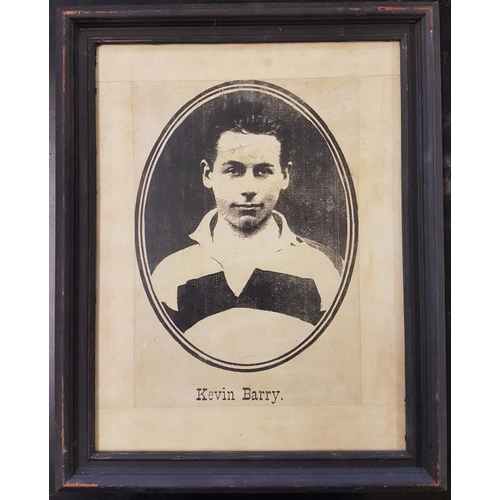 102 - Framed Portrait of Kevin Barry as a Young Man - 13.5 x 17ins...