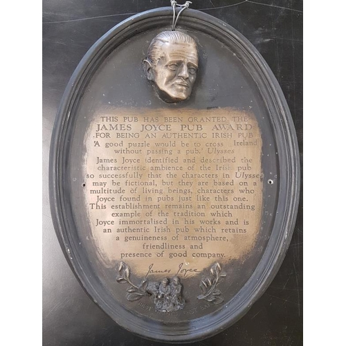 117 - James Joyce Pub Award Plaque - 15 x 20ins...